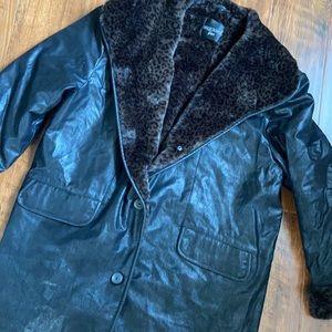 Faux Leather & Fur Winter Coat